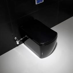 black smart toilet