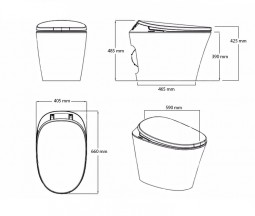 measures VOGO R500 Toilet