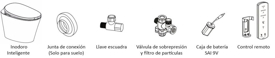 inodoro accesorios incluidos