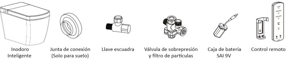smart toilet accesorios